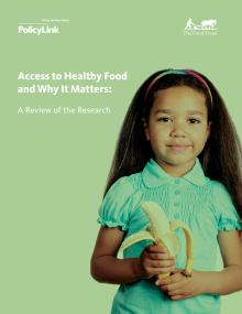 cover of access to healthy food